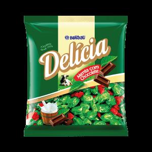 Bala Delícia Menta Com Chocolate Berbau 250G
