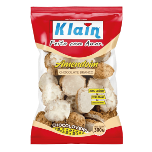 Biscoito Amendoim Chocolate Branco Klain 300G