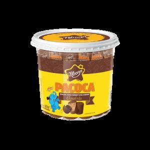 Paçoca Rolha Com Chocolate 60UN Nbonn 1,02KG