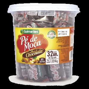 Pé De Moça Com Cobertura De Chocolate Guimarães 1024G